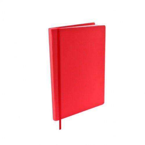 Foto van Rekbare boekenkaft a5 textiel/elastaan rood