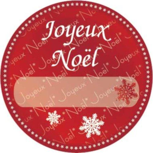 Foto van Etiketten ''joyeux noël'' 1000 stuks rood