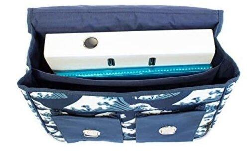 Foto van Schooltas junior 38 cm polyester blauw/wit 4
