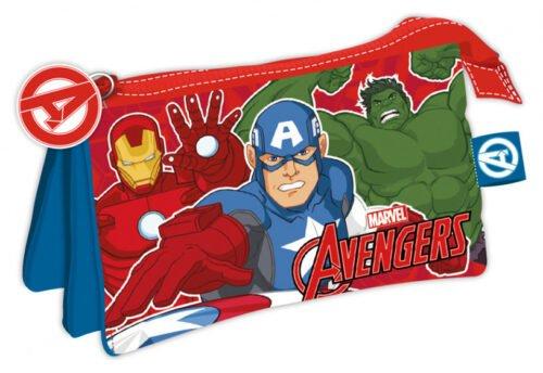 Foto van Etui avengers junior 21 x 11 cm polyester rood/blauw