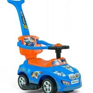 Foto van Happy loopwagen politieauto blauw/oranje