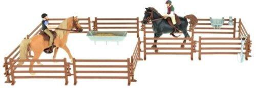 Foto van Horses Pro Twee paarden met ruiters en accessoires