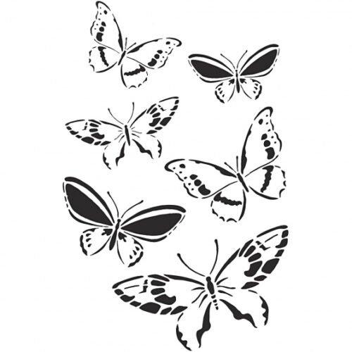 Foto van Flexibel sjabloon vlinders 21x30 cm transparant 3